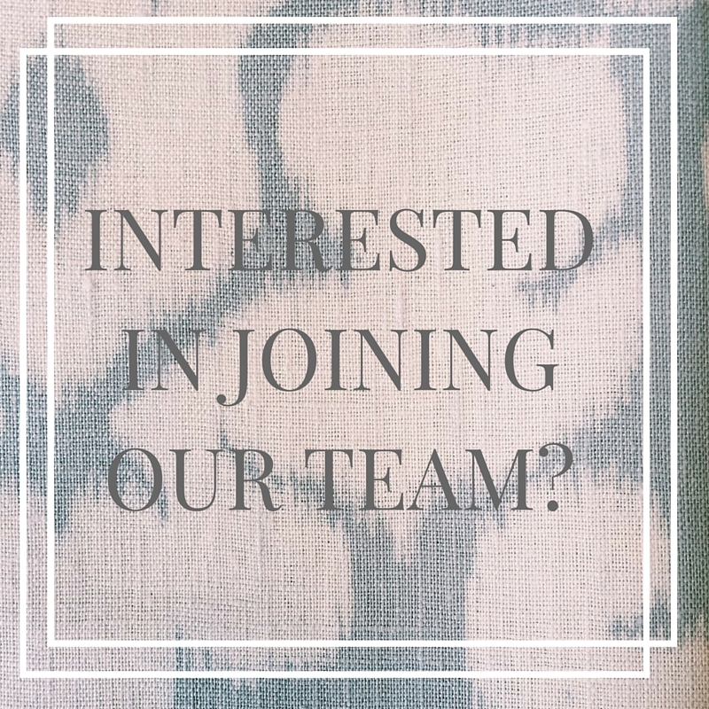 Interested in joining our team-